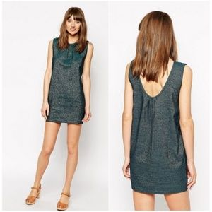 Madewell Sessun Alice Dress Green Metallic